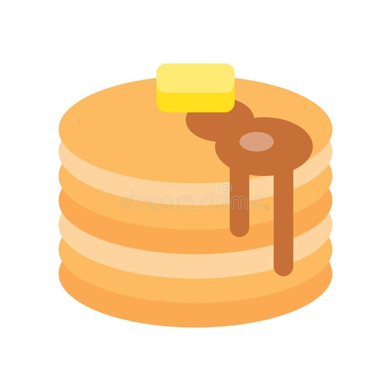 Gorący niecka tort z masłem, miód, cukierki i ciasto set, mieszkanie ilustracja wektor