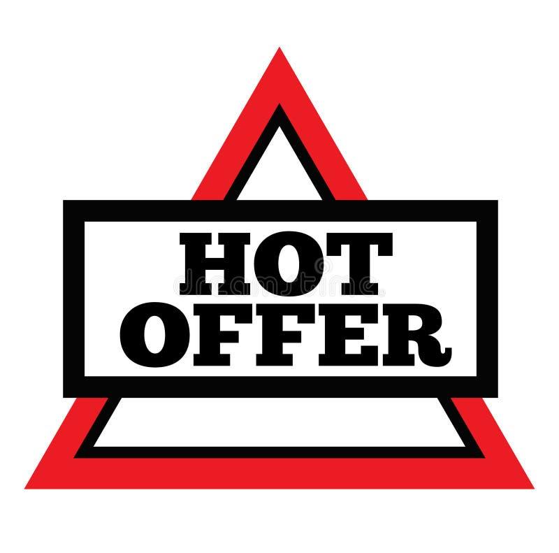 GORĄCY oferta znaczek na bielu ilustracja wektor