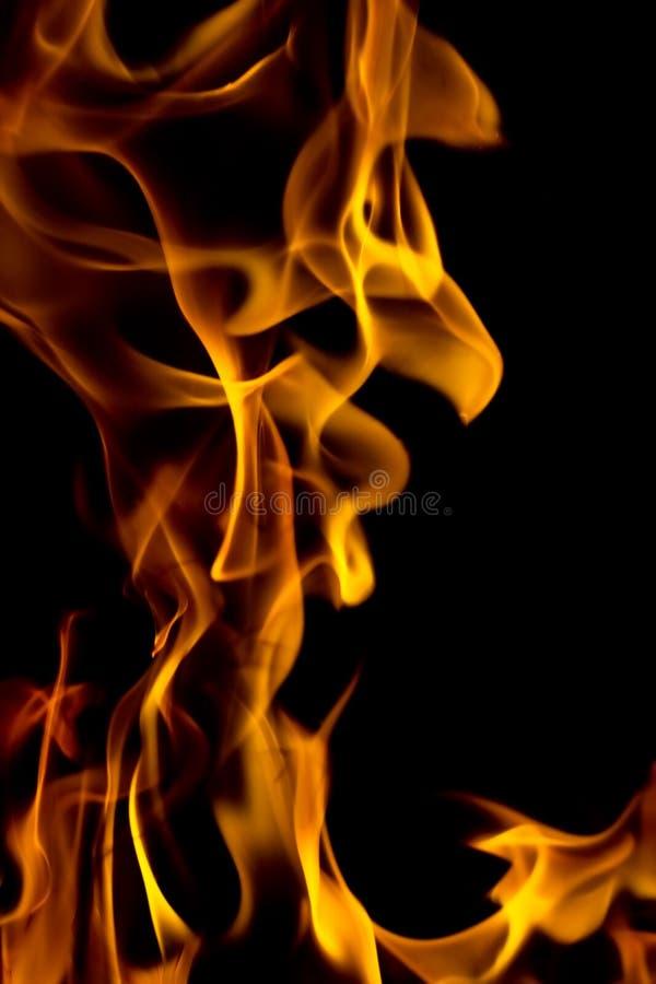 gorący ogień płonie - abstrakcjonistyczny tła i tekstury pojęcie ilustracja wektor