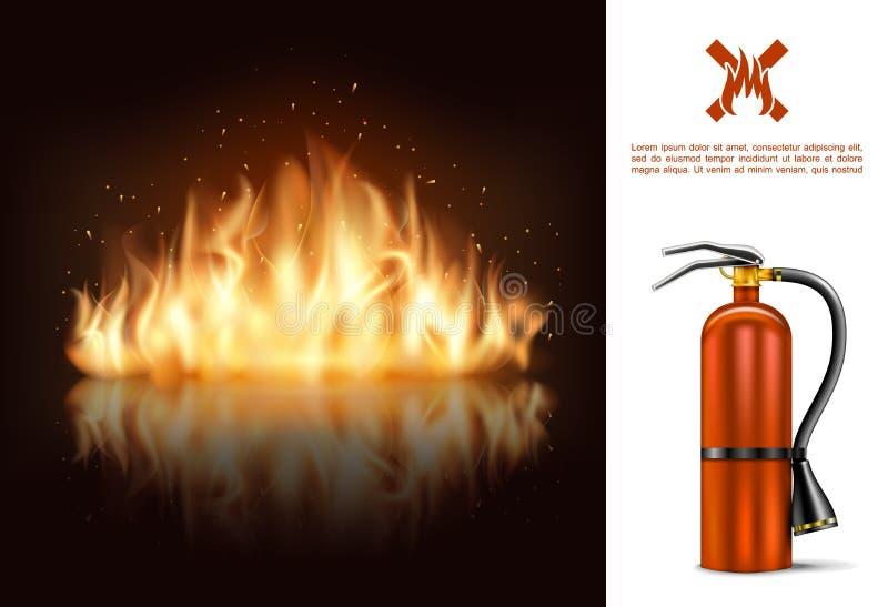 Gorący Płonący Rozjarzony pojęcie ilustracji