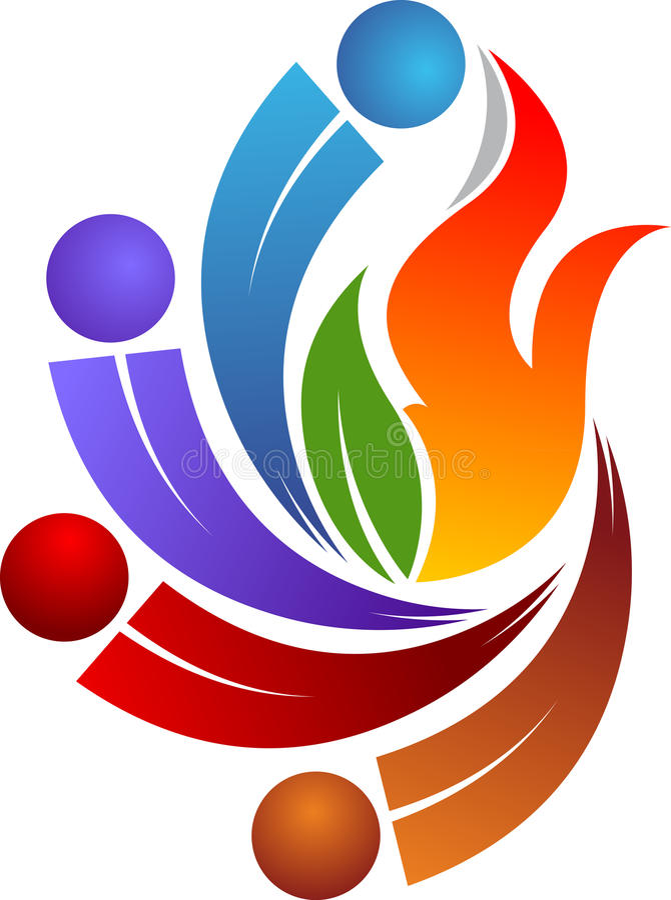 Gorący para logo ilustracji
