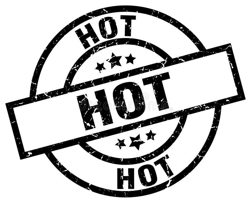 gorący pieczęć ilustracja wektor