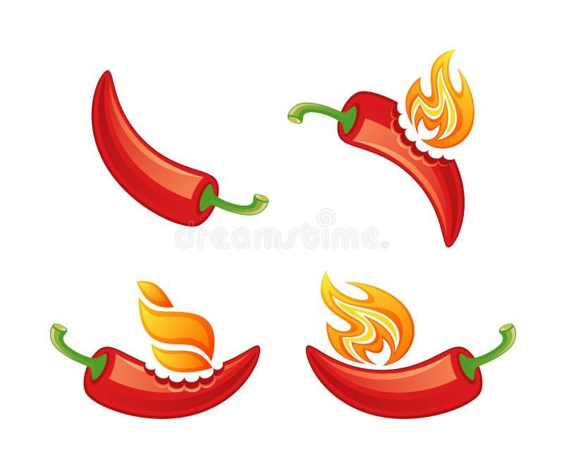 Gorący pieprz ilustracja wektor