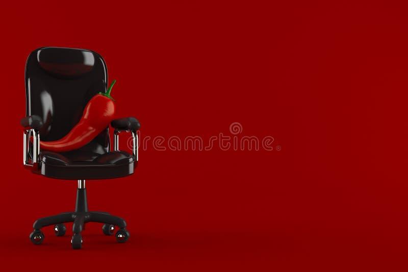 Gorący pieprz na biznesowym krześle royalty ilustracja