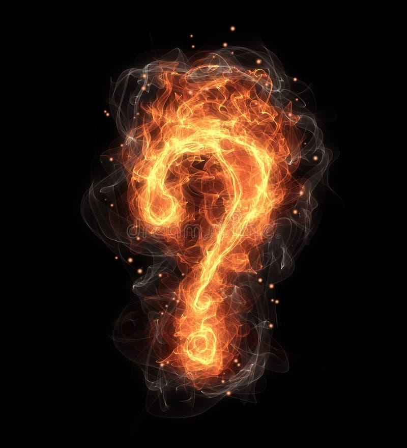 Gorący pożarniczy pytanie ilustracja wektor