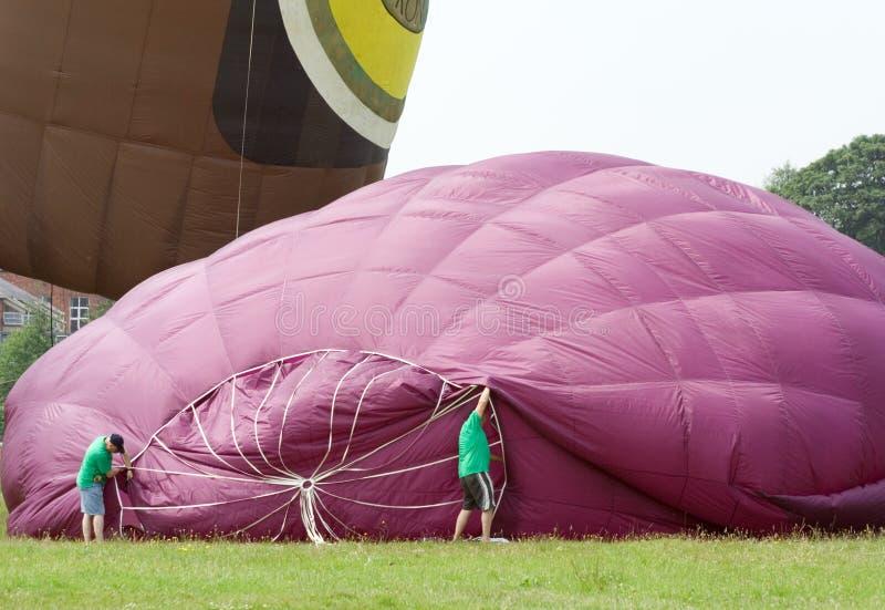 gorący pompowanie balon powietrza zdjęcie stock