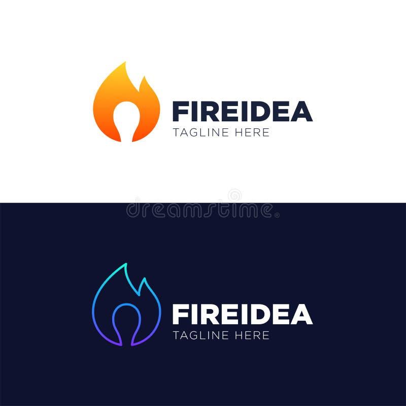 Gorący pomysłu logo szablonu projekta wektor, emblemat, projekta pojęcie, Cr ilustracja wektor