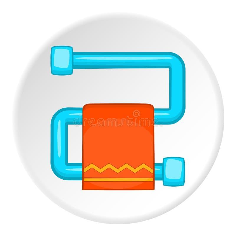 Gorący ręcznikowy poręcz z pomarańczową ręcznikową ikoną royalty ilustracja