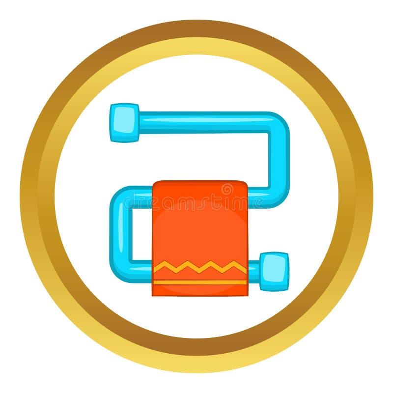 Gorący ręcznikowy poręcz z pomarańczową ręcznikową ikoną ilustracji