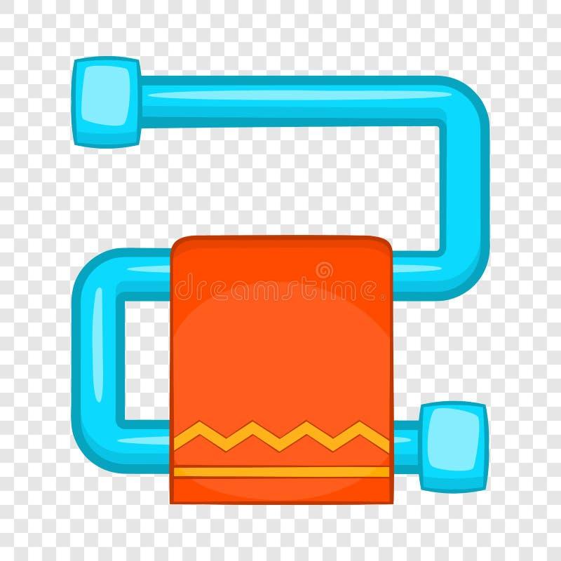 Gorący ręcznikowy poręcz z pomarańczową ręcznikową ikoną ilustracja wektor
