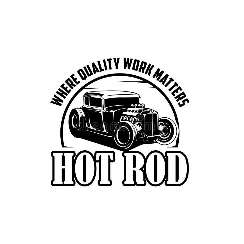 Gorący Rod dokąd ilości praca liczy się loga wektor ilustracja wektor