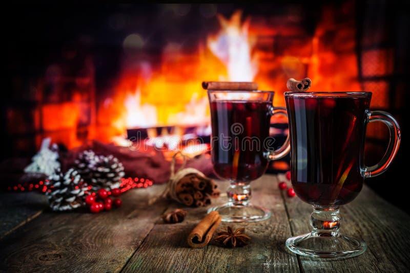 gorący rozmyślający wino fotografia royalty free