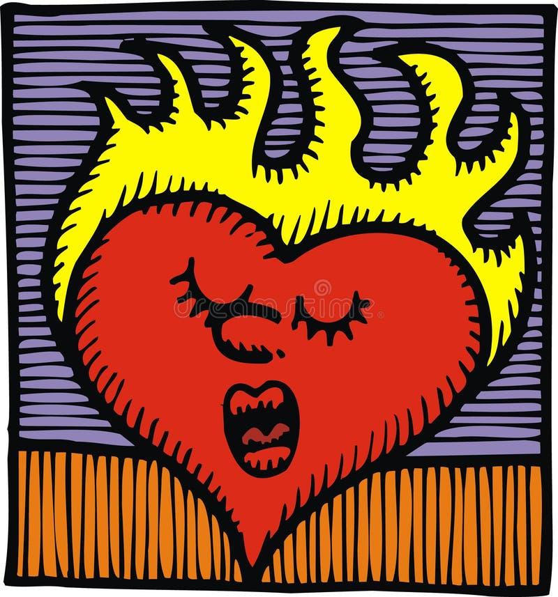 Gorący serce ilustracji