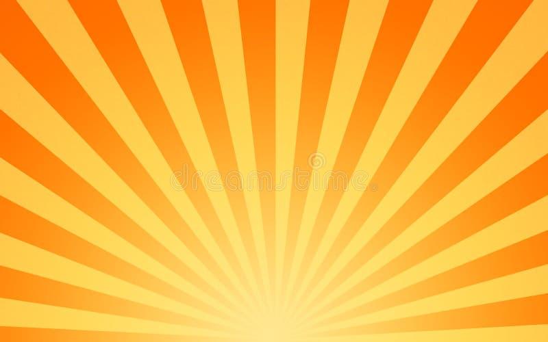 gorący shining słońc sunbeams ilustracji