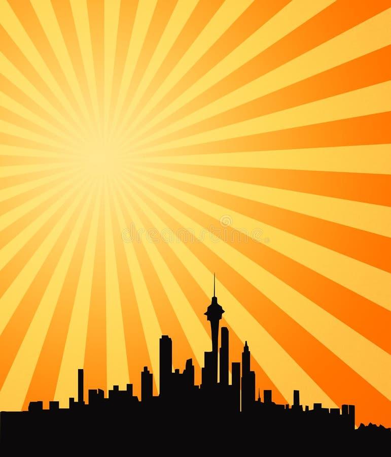 gorący shining słońc sunbeams ilustracja wektor