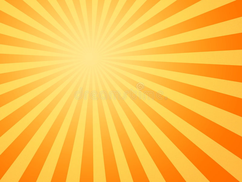 gorący shining słońc sunbeams royalty ilustracja