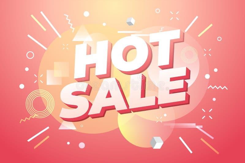 Gorący sprzedaż sztandar, oferta specjalna ilustracji