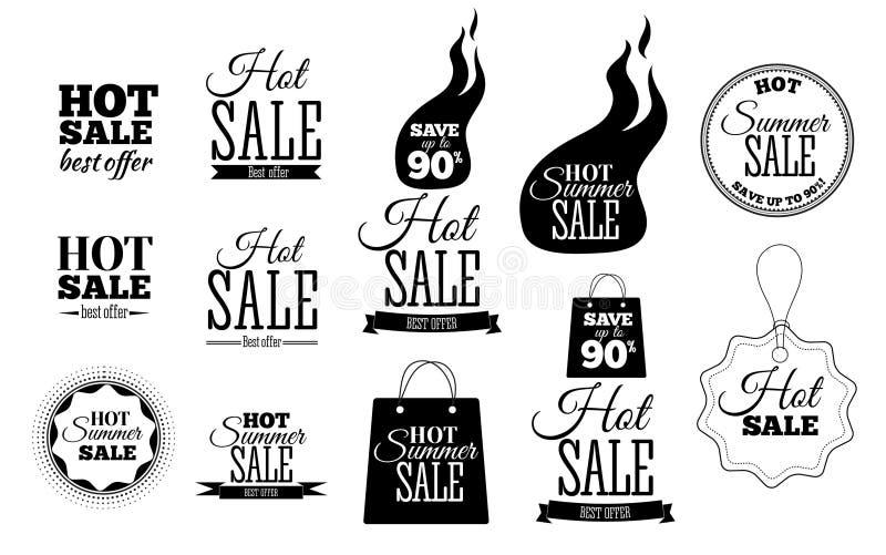 Gorący sprzedaż sztandary Ten weekendowy tylko specjalnej oferty szablon, wektorowa ilustracja ilustracja wektor
