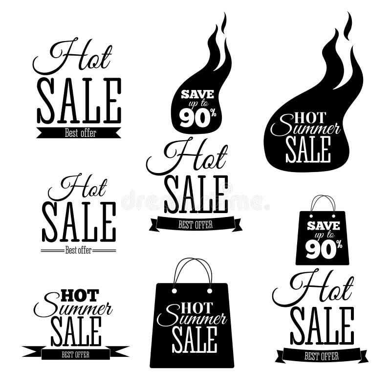 Gorący sprzedaż sztandary Ten weekendowy tylko specjalnej oferty szablon, wektorowa ilustracja royalty ilustracja