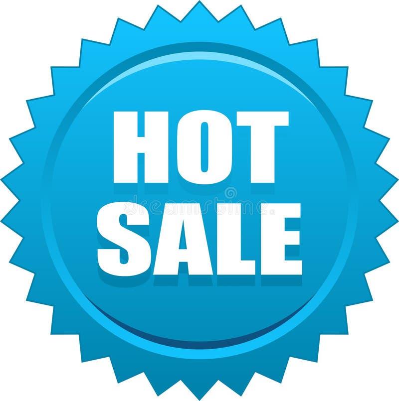 Gorący sprzedaży foki znaczka błękit ilustracja wektor