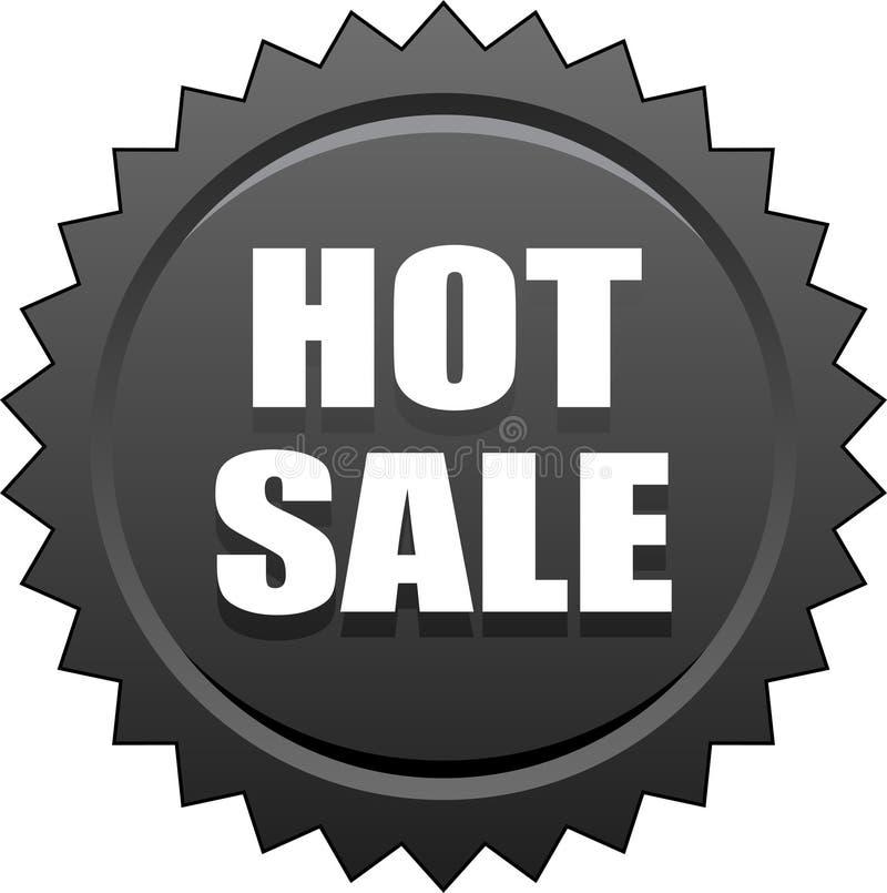 Gorący sprzedaży foki znaczka czerń royalty ilustracja