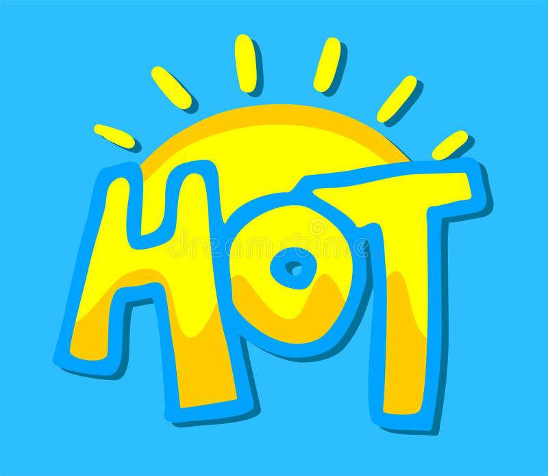 Gorący symbol ilustracji