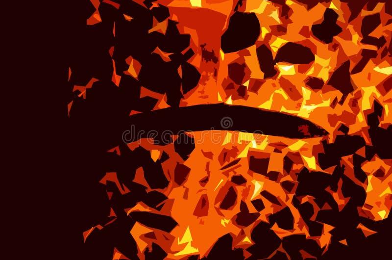 Gorący szczudła składają w postaci krzyża ilustracji