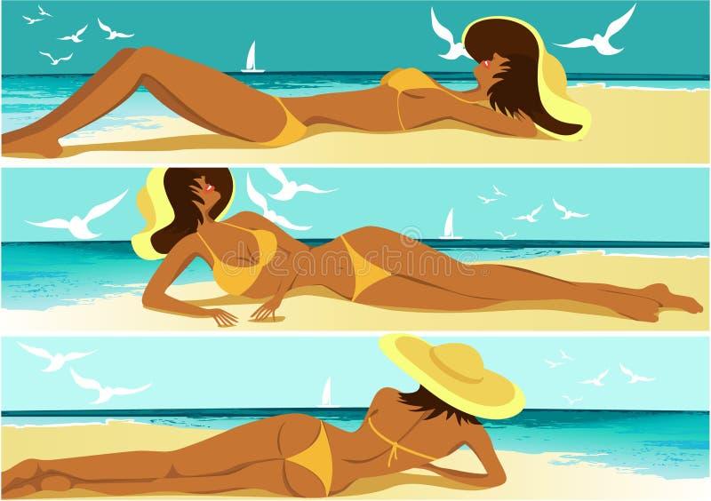 gorący sztandaru lato ilustracji