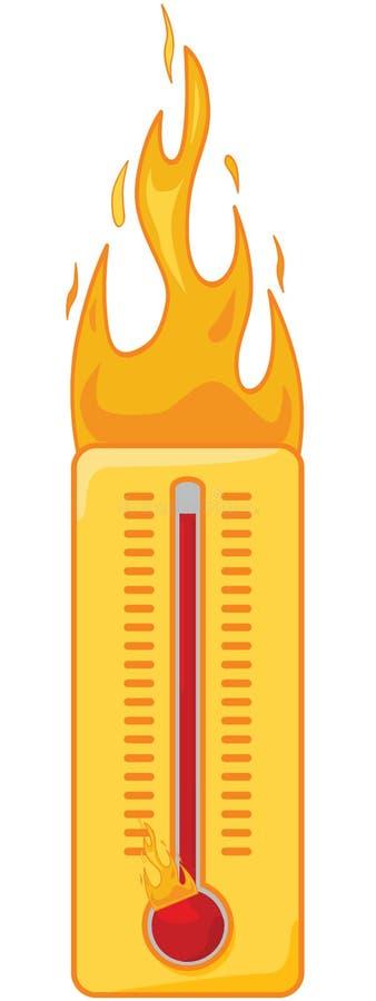 gorący termometr ilustracja wektor