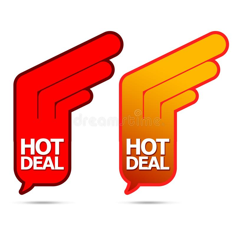 gorący transakcja projekt ilustracji