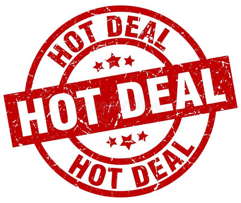 Gorący transakcja znaczek ilustracja wektor