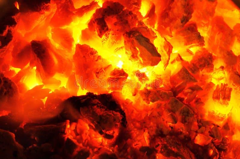 Gorący węgle! zdjęcie royalty free