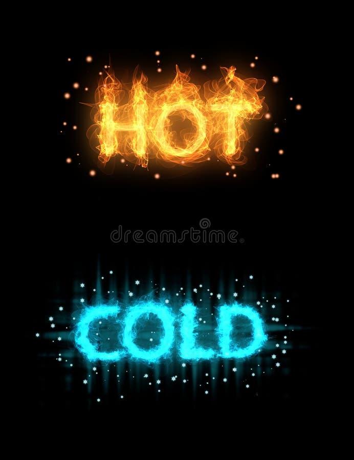 Gorący zimny abstrakcjonistyczny tło ilustracja wektor