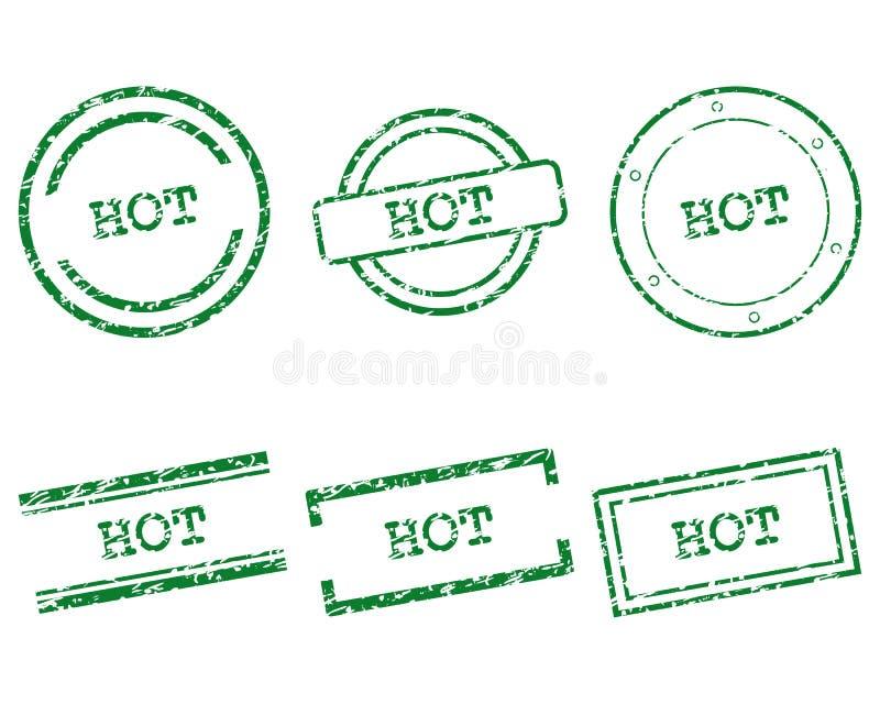 Gorący znaczki royalty ilustracja