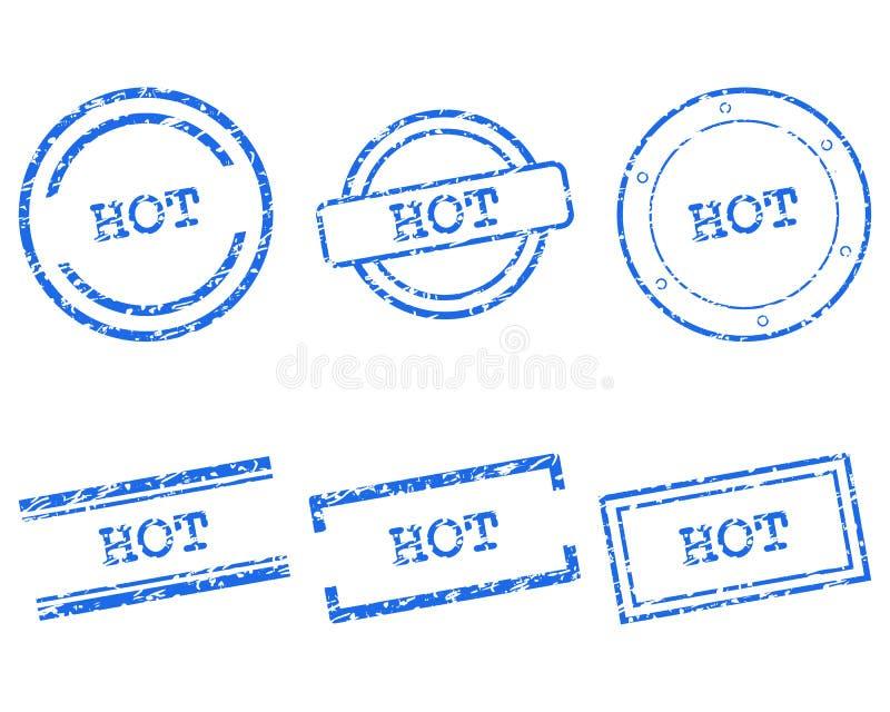 Gorący znaczki ilustracji