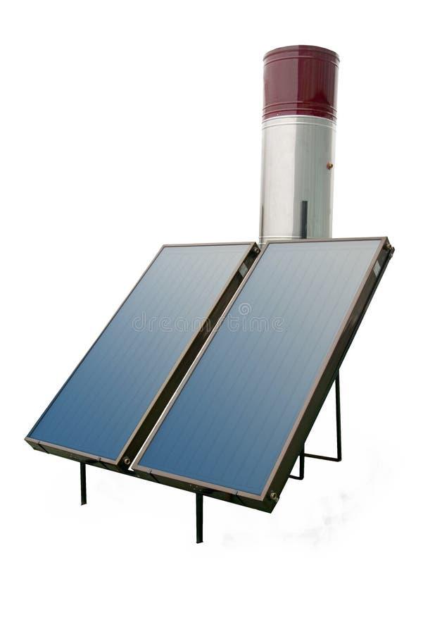 gorących panel słoneczna woda zdjęcia royalty free