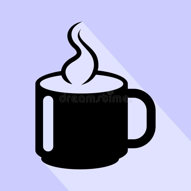 gor?ca fili?anka kawy ikona odizolowywaj?ca na bia?ym tle Gorącej filiżanka kawy ikony prosty znak royalty ilustracja