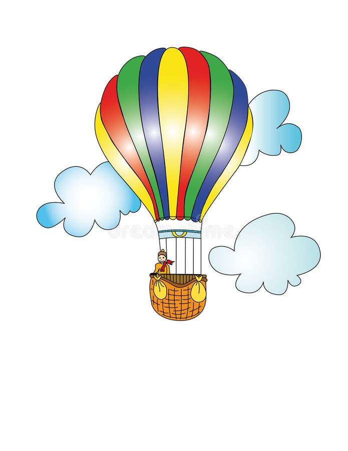 Download Gorący lotniczy balon ilustracji. Ilustracja złożonej z harcerz - 13339793