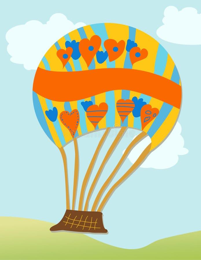 Download Gorący lotniczy balon ilustracja wektor. Obraz złożonej z kosz - 23193572