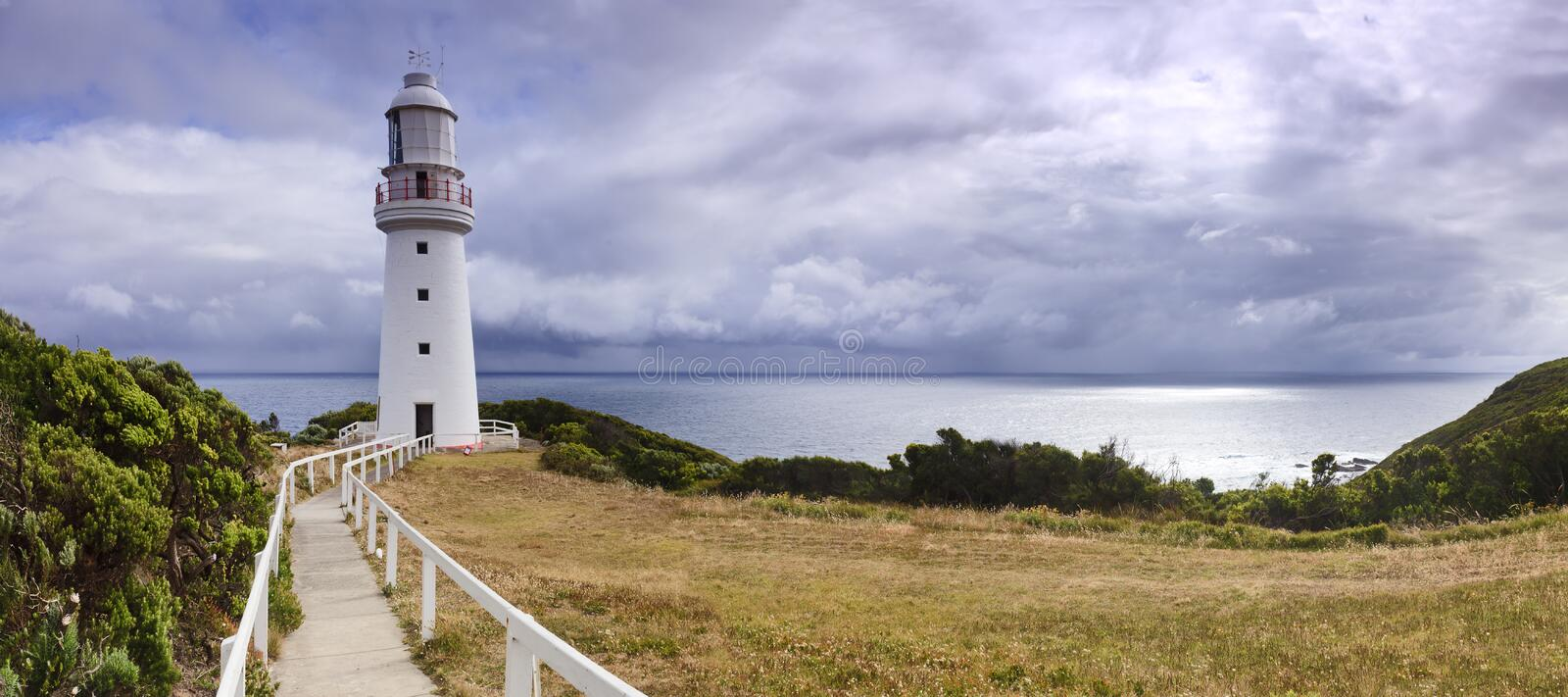 Download GOR Lighthouse Hor Pan stock image. Image of pacific - 23494347