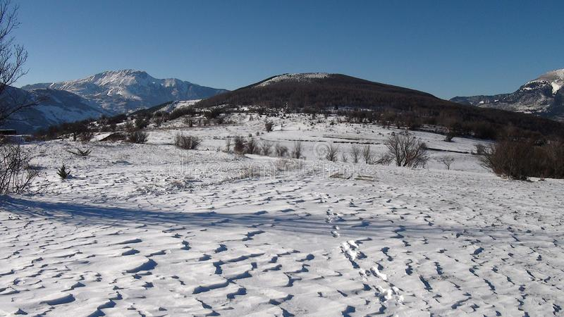 Gora - piękny widok na Dzikiej naturze obrazy stock