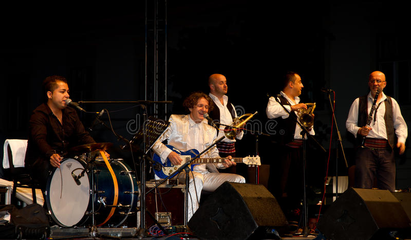 Goran Bregovic and his Wedding and Funeral Band stock photos