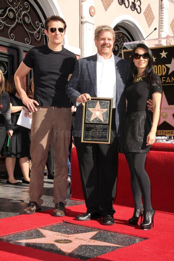 Goran Visnjic, poços de John, Lucy Liu imagens de stock royalty free