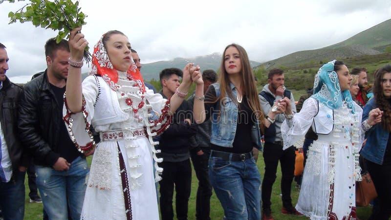 Gorani dziewczyna w Oro obrazy royalty free