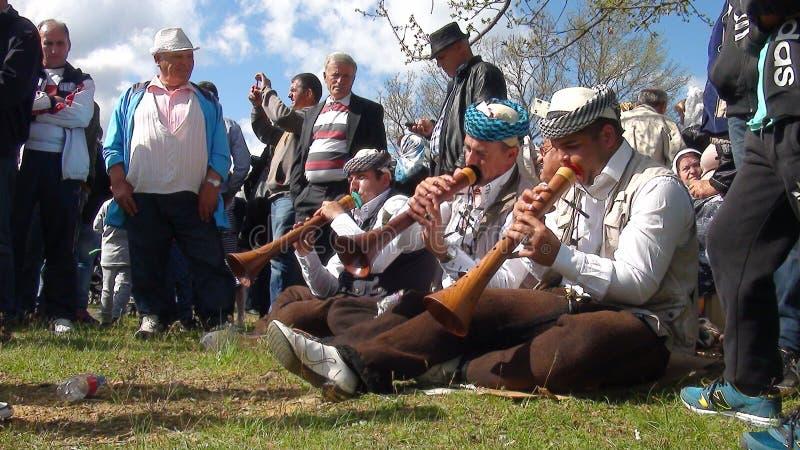 Gorani ludzie podczas Djurdjevden zdjęcie stock