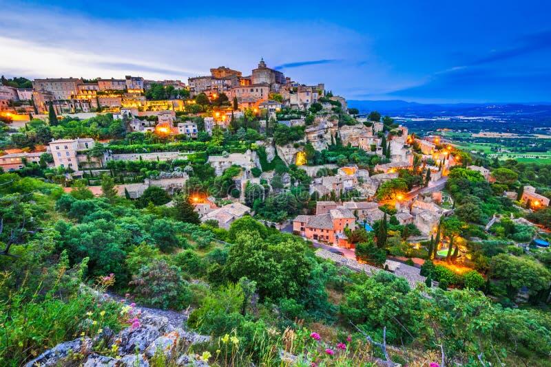 Gordes, de Provence in Frankrijk stock foto