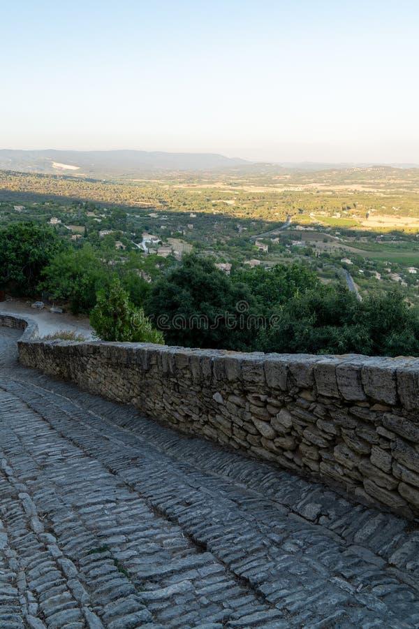 Gordes hill village alley stone in the Luberon Provence france. A Gordes hill village alley stone in the Luberon Provence france royalty free stock photos