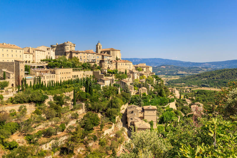 Download Gordes Medieval Village In Southern France Stock Image - Image of luberon, city: 28336715