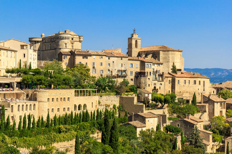 Gordes medieval village in Southern France royalty free stock images
