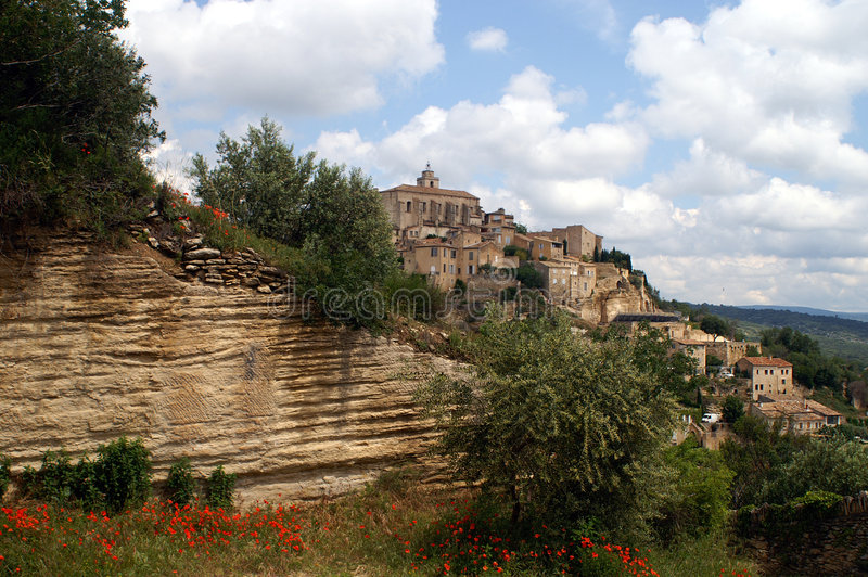 Gordes in Provence, France stock photography